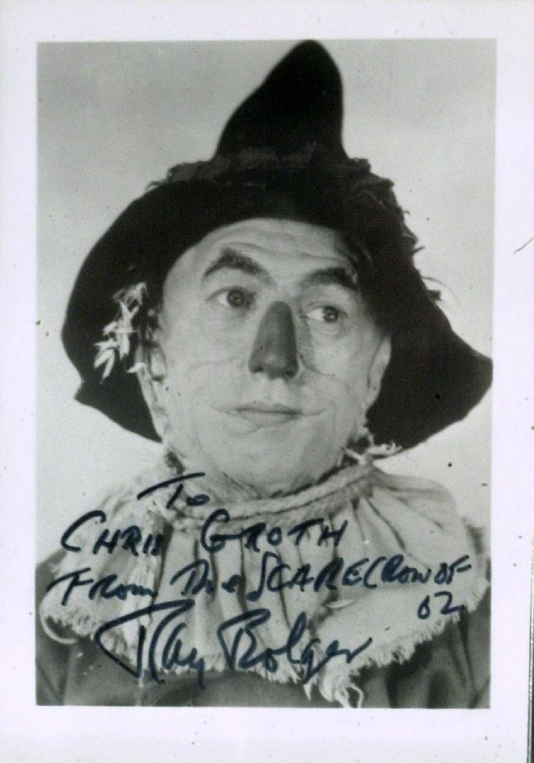 RAY BOLGER - Scarecrow Photo Signed