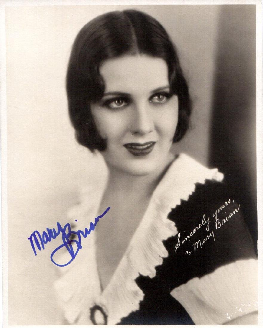 Silents Actress MARY BRIAN - Photo Signed