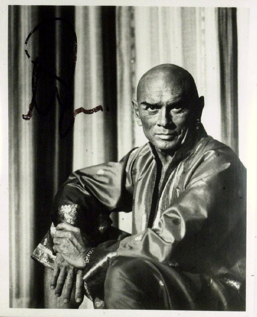 """""""King and I"""" Actor YUL BRYNNER - Photo Signed"""