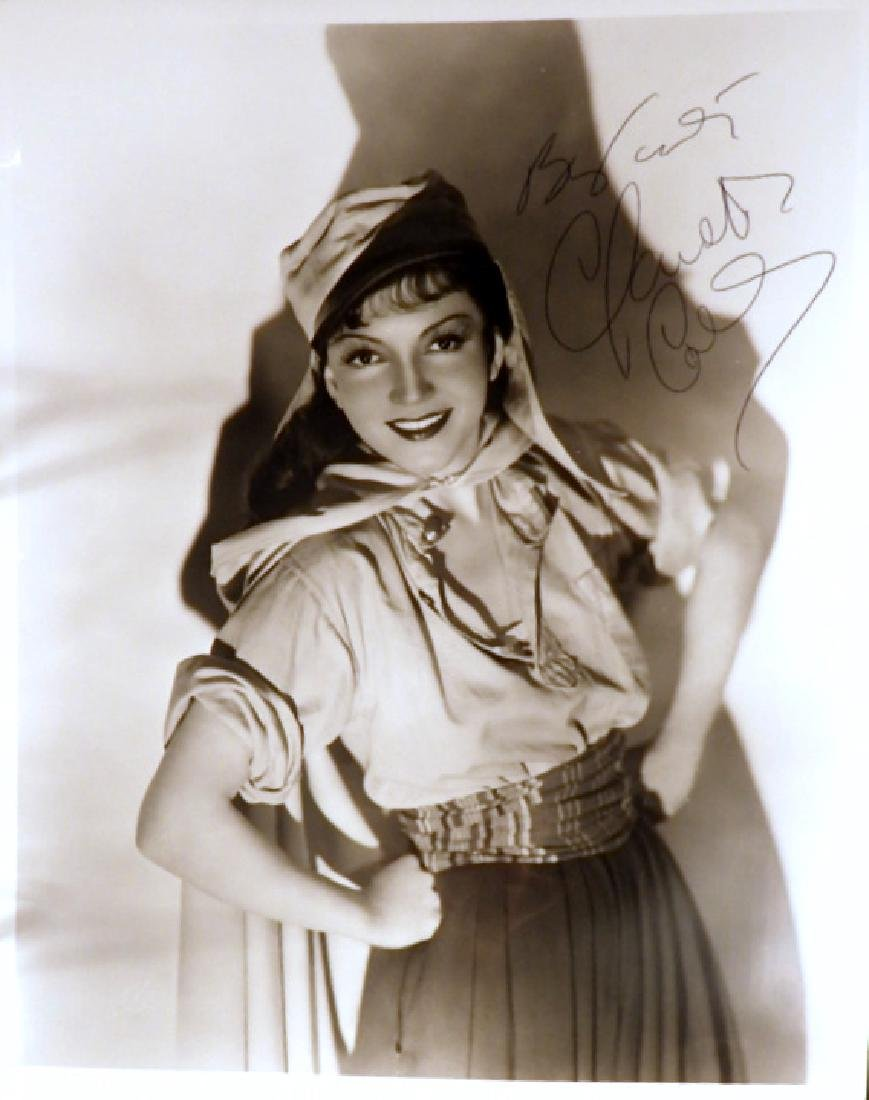 French Actress CLAUDETTE COLBERT - Photo Signed