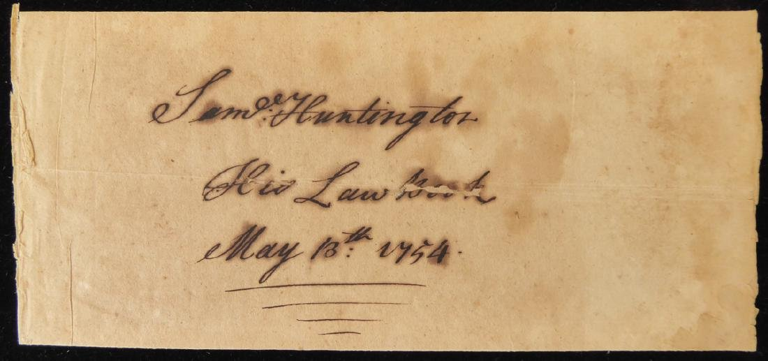 Conn Signer SAMUEL HUNTINGTON - Cut Signature
