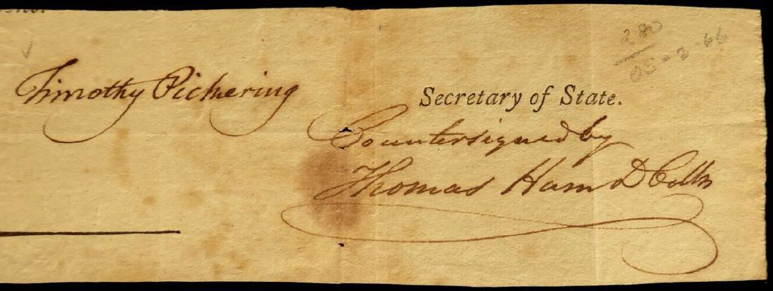 TIMOTHY PICKERING - Cut Signature