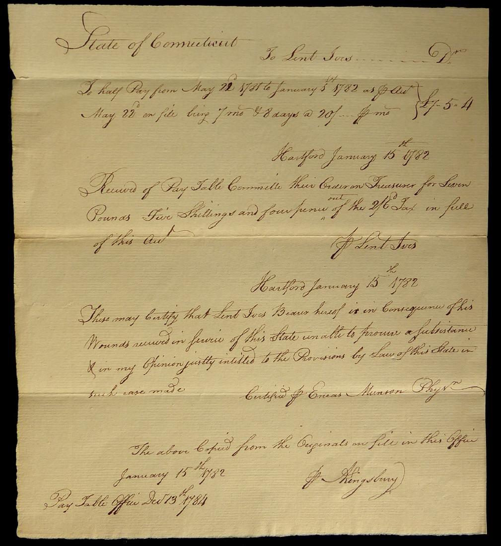 Conn Half Pay Grant - 1784