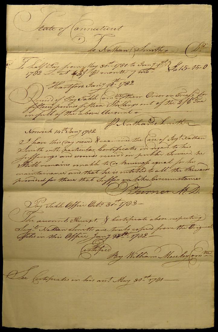 Half Pay Grant - CONNECTICUT 1782