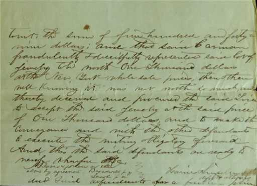 16th pres abraham lincoln legal document signed twice