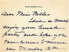 1st Lady EDITH KERMIT ROOSEVELT- AutographLetter Signed