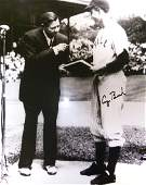 GEORGE H W BUSH  Photo With Babe Ruth Signed
