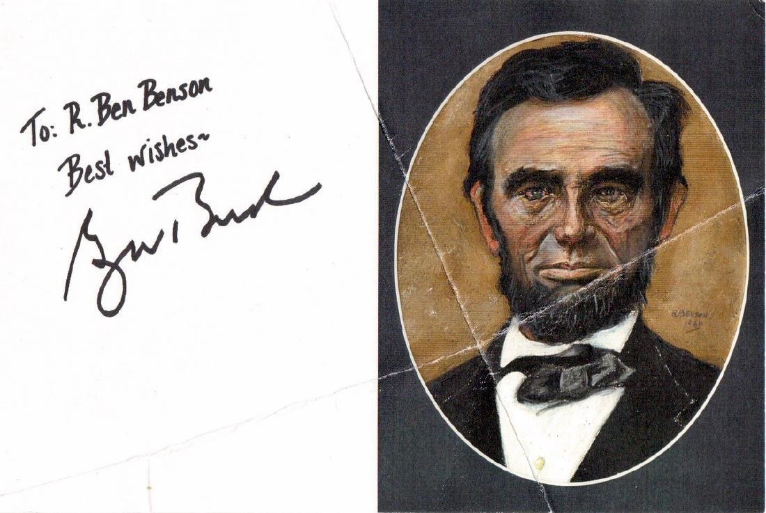 George W Bush Lincoln Flyer Signed