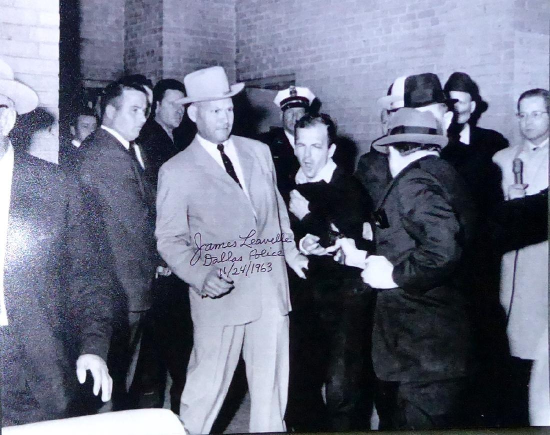 JFK: Dallas Policeman JAMES LEAVELLE - Photo Signed
