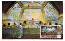 SALVADOR DALI  Postcard Photo of His Painting Signed