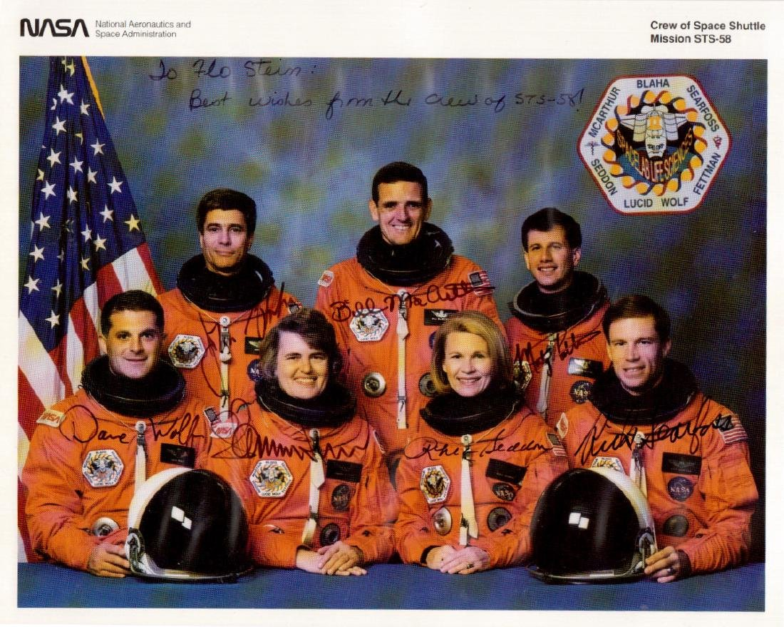 Space Shuttle Mission STS-58 - Crew Signed Litho