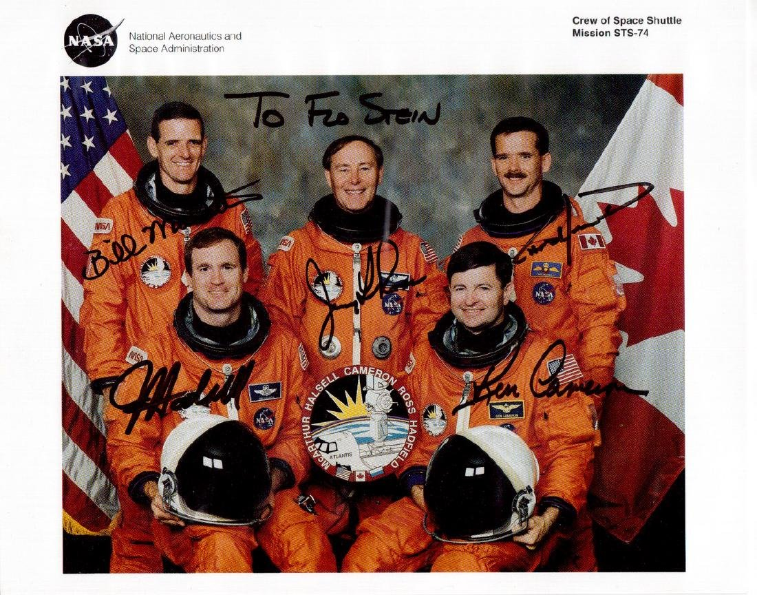 Space Shuttle Mission STS-74 - Crew Signed Litho