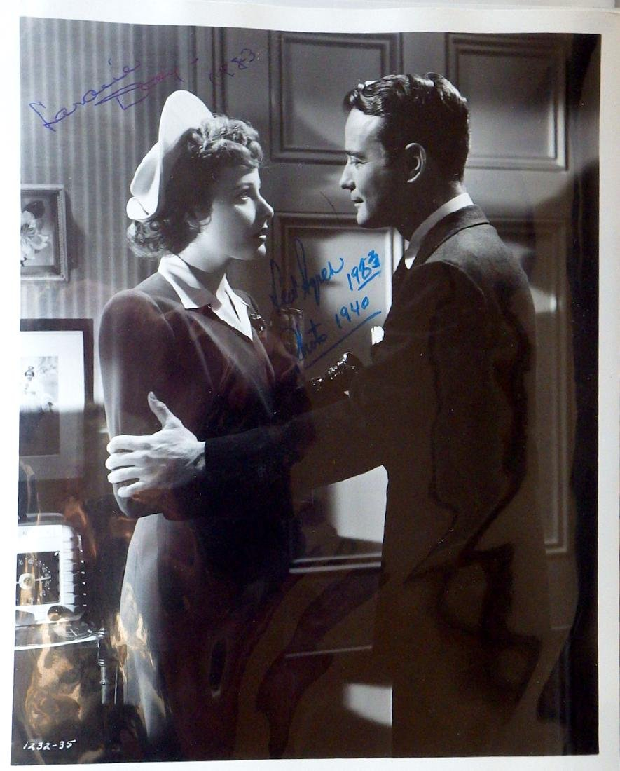 LEW AYERS and LARAINE DAY - Movie Still Signed