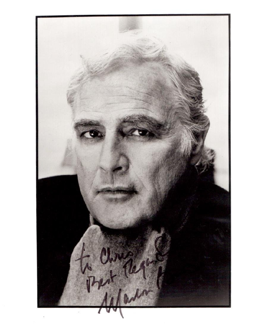 Actor MARLON BRANDO - Photo Signed