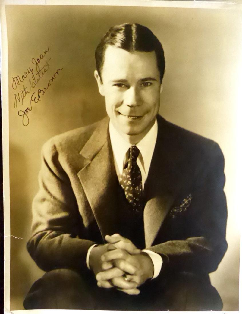 Comic Actor JOE E BROWN - Large Photo Signed