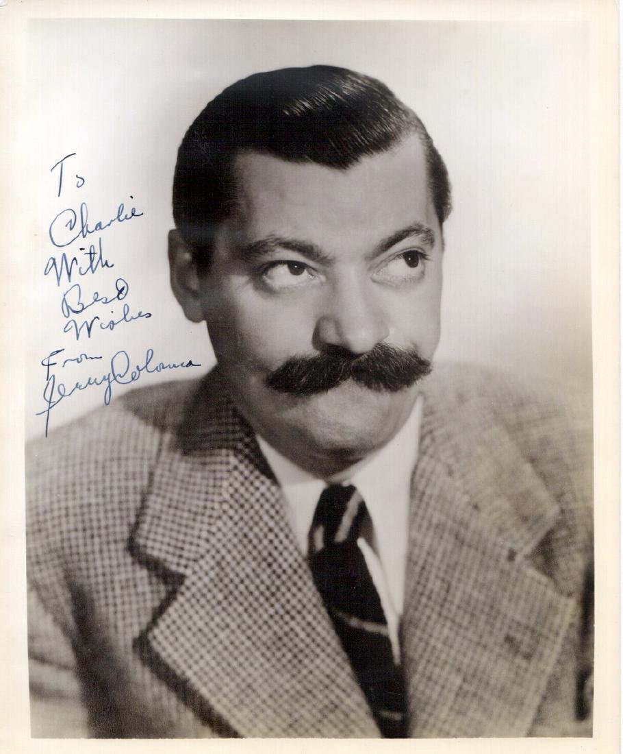 Comedian JERRY COLONNA - Photo Signed
