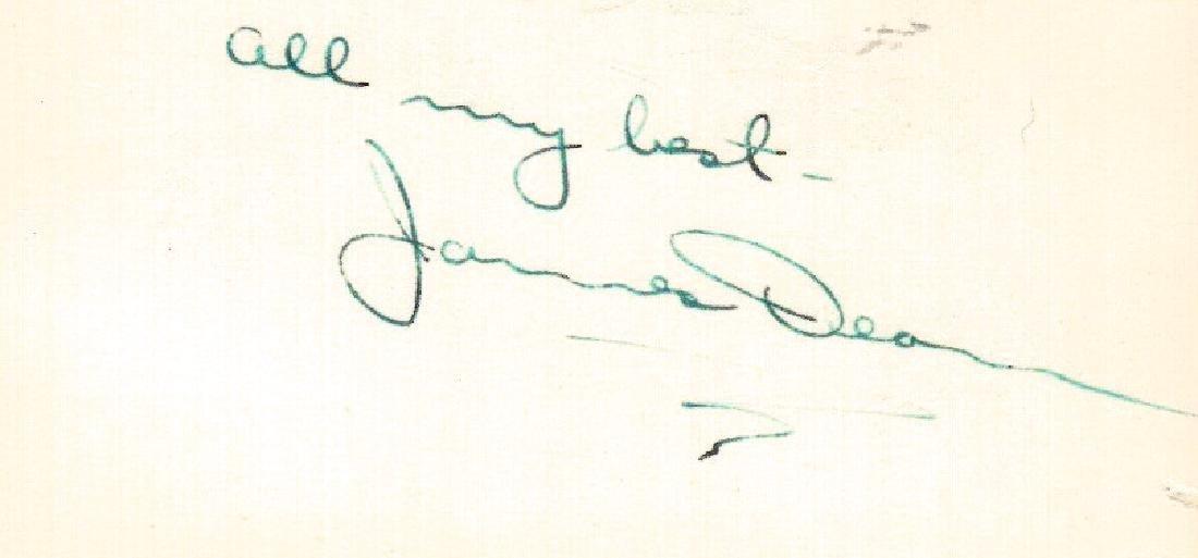 Actor JAMES DEAN - Card Signed