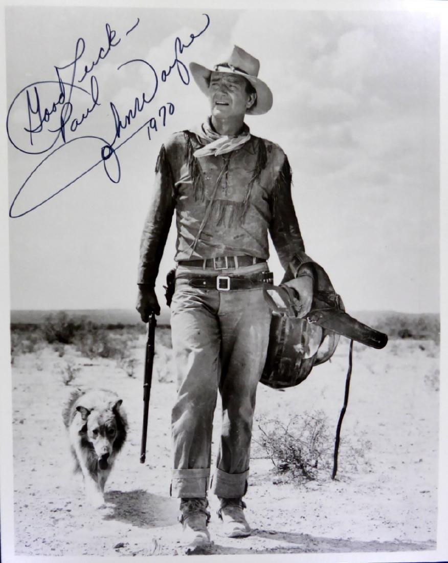 Actor JOHN WAYNE - Movie Photo Signed