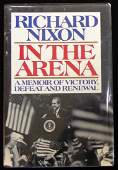 RICHARD M NIXON - In the Arena, Signed 1st Ed