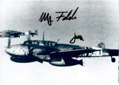 Luftwaffe Night Fighters  FALCK and JABS Photo Signed