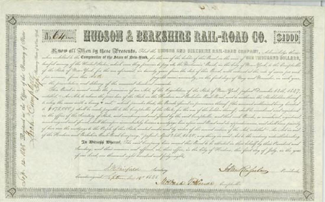 President MILLARD FILLMORE - Bond Signed