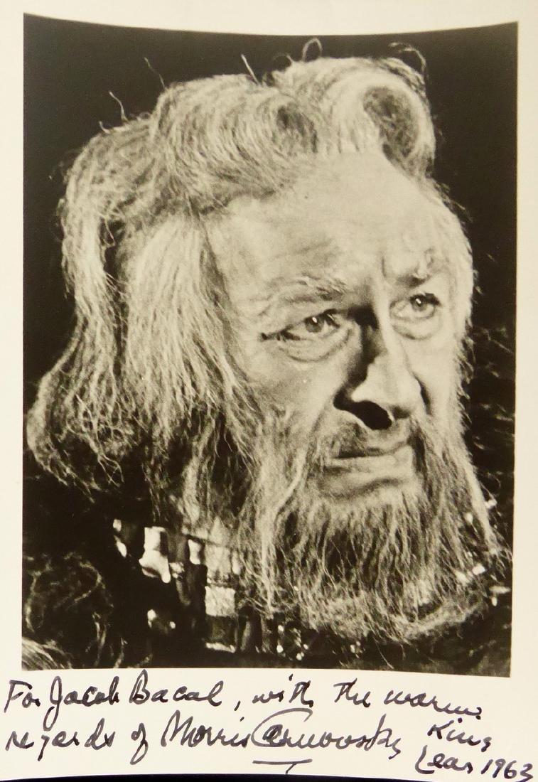 Actor MORRIS CARNOVSKY - Photo Signed