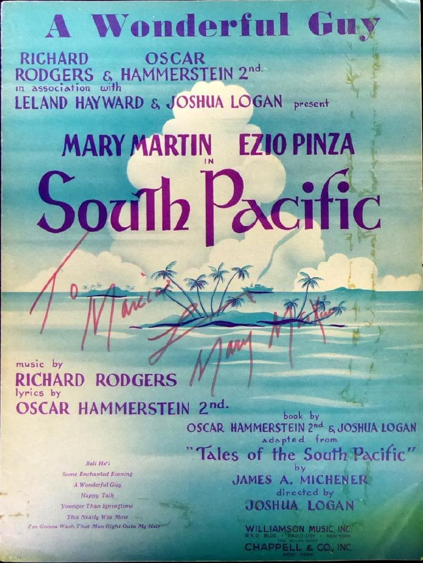 Actress, Singer MARY MARTIN - South Pacific Sheetmusic