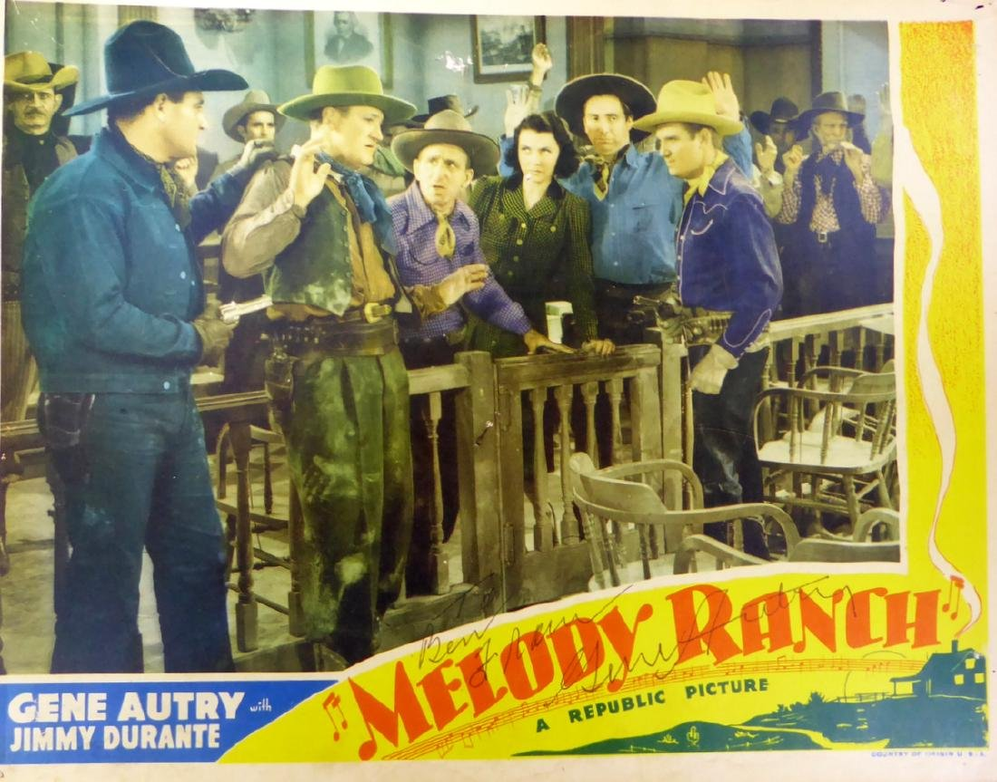 Signing Cowboy GENE AUTRY - Lobby Card Signed