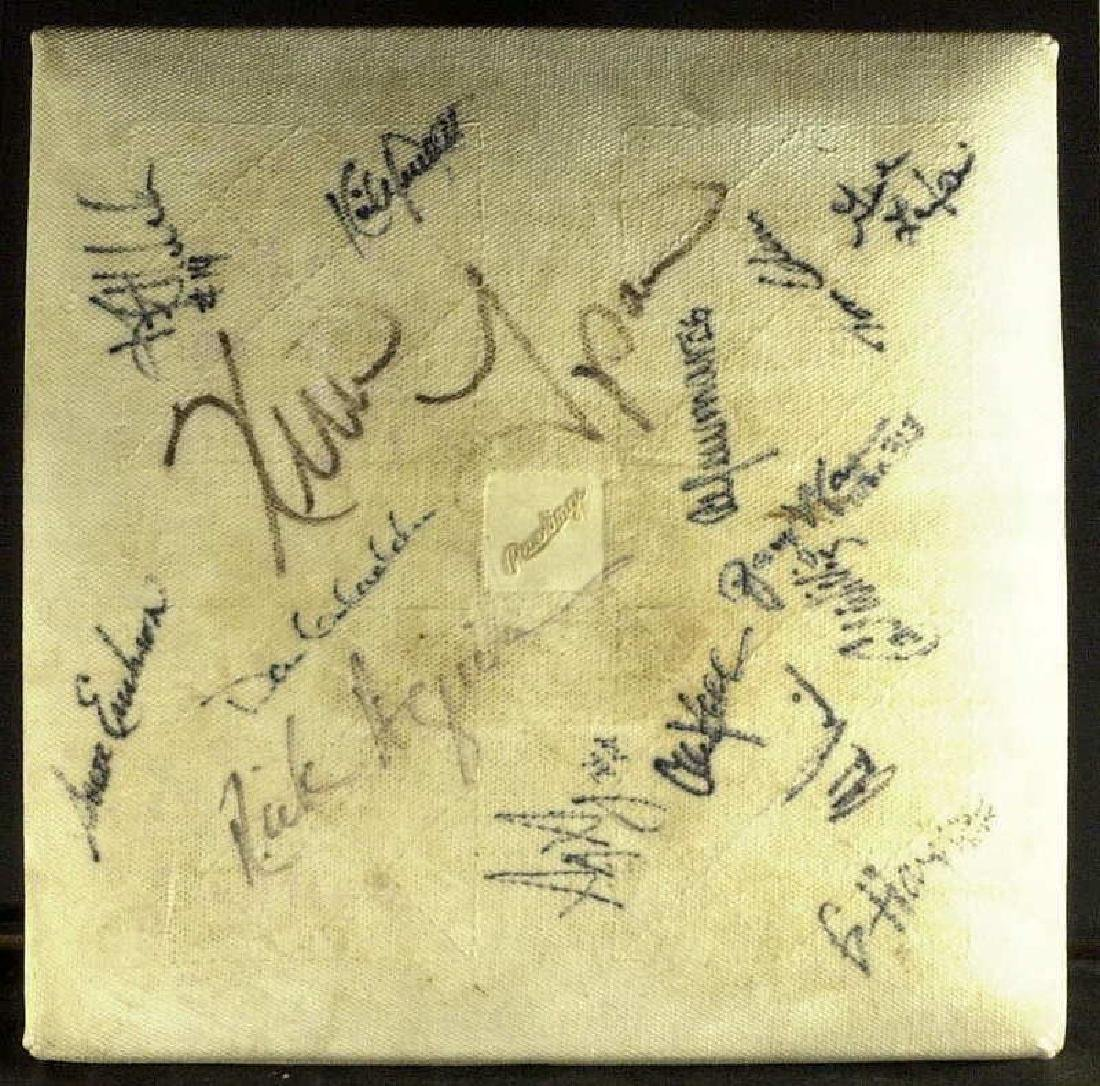 1991 World Series Base - Signed by 15 TWINS