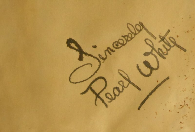 """""""Queen of Serials"""" Actress PEARL WHITE - Album Page Sig"""