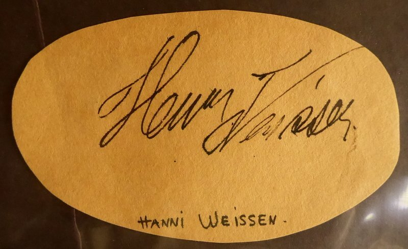 German Silent Film Actress HANNI WEISSE - Cut Signature