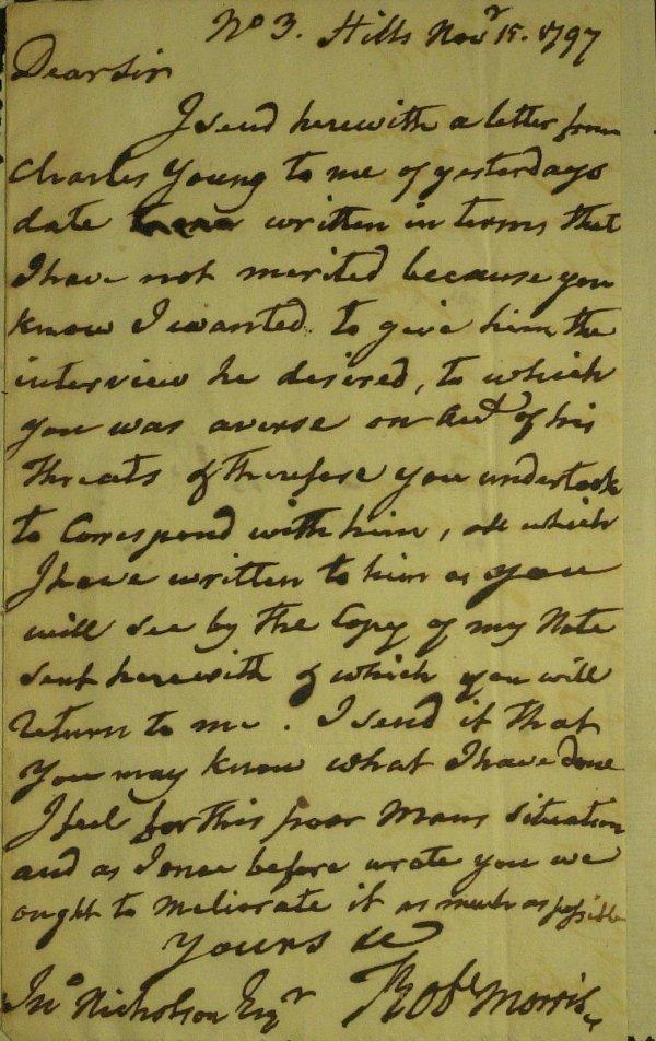 12: Rev Financier ROBERT MORRIS - Autograph Ltr Signed