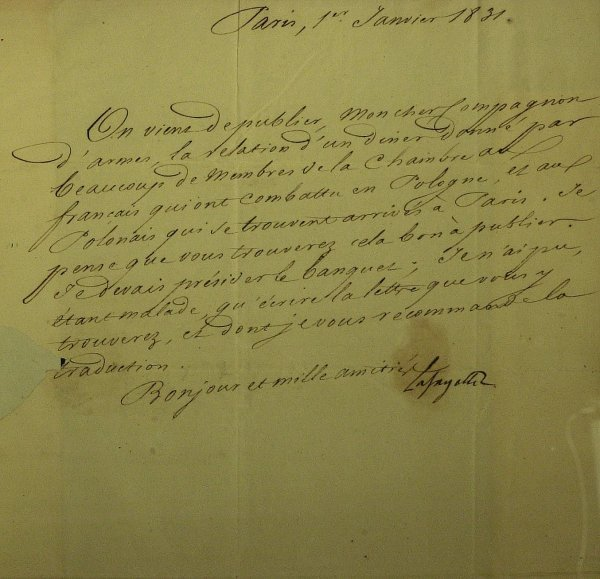 13: French General MARQUIS LaFAYETTE - Letter Signed