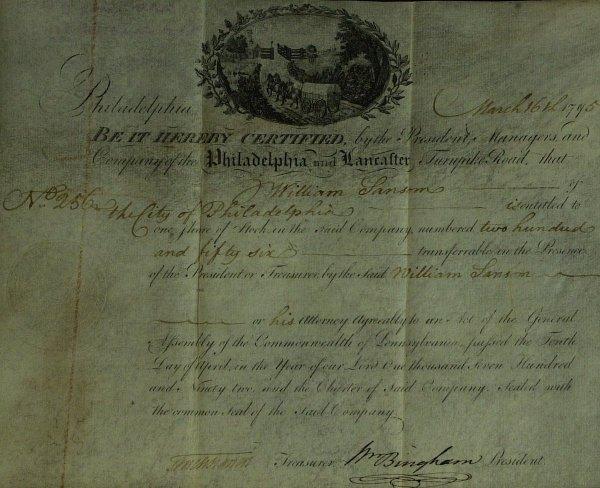 20: Statesman WILLIAM BINGHAM - Financial Doc Signed
