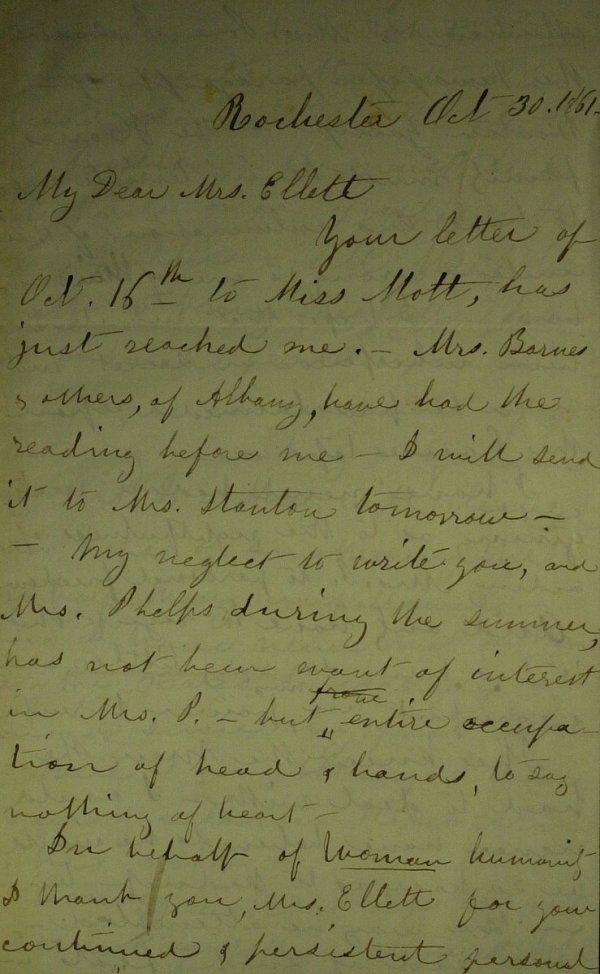 126: Suffrage Leader SUSAN B ANTHONY - Autograph Ltr