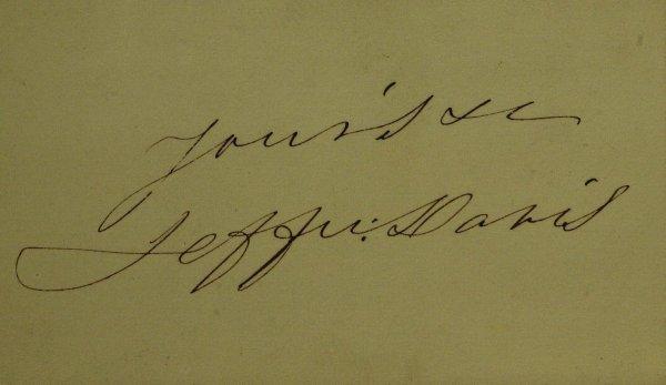 159: CSA President JEFFERSON DAVIS - Card Signed
