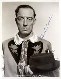 Comedian, Actor BUSTER KEATON - Photo Signed
