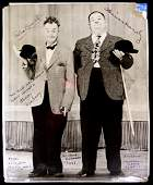 Comedians LAUREL and HARDY - Photo Signed