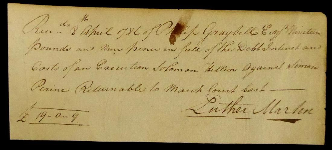 Founding Father LUTHER MARTIN - Financial Doc Signed
