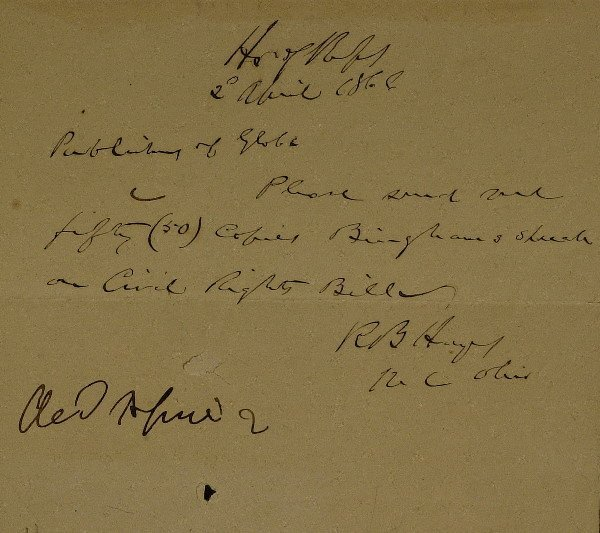 18: President RUTHERFORD B HAYES - Autograph Ltr