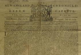 110: JULY 6, 1775 NEWSPAPER -Dec of Causes Necessity