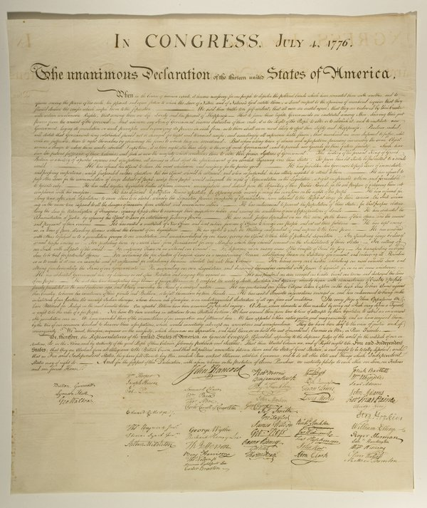 112: Stone Engraving DECLARATION of INDEPENDENCE