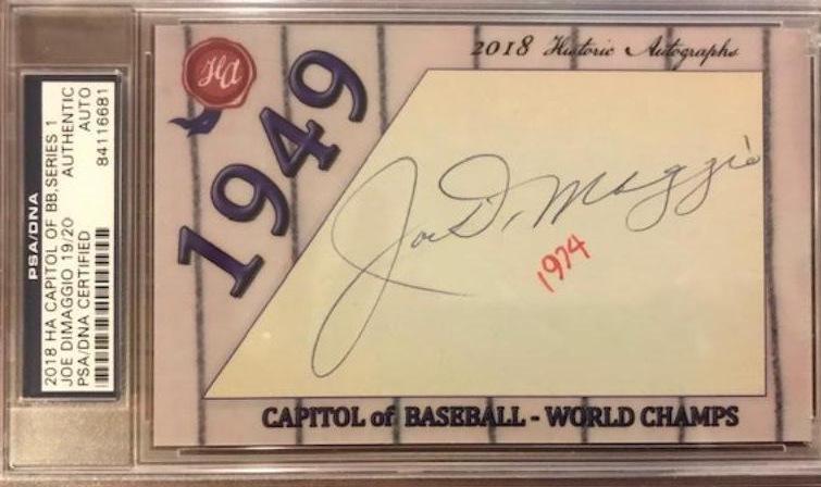 Yankee JOE DiMAGGIO - Cut Signature
