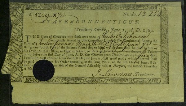 9: AFRICAN-AMERICAN in Rev War - Pay Order Signed