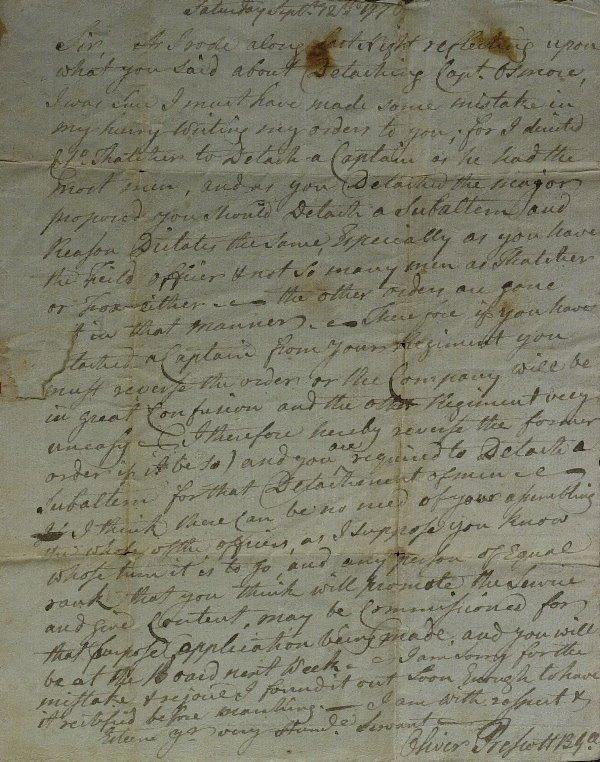 10: Rev War Gen OLIVER PRESCOTT - Autograph Ltr Signed