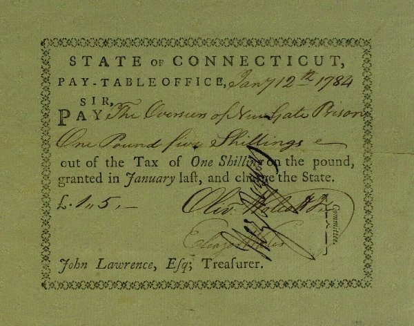 15: Secy of Treasury OLIVER WOLCOTT JR- Payorder Signed