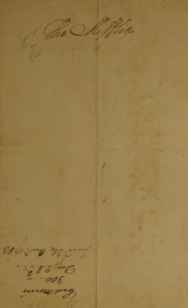 17: Rev War Gen, PA Gov THOMAS MIFFLIN - Fin Doc Signed