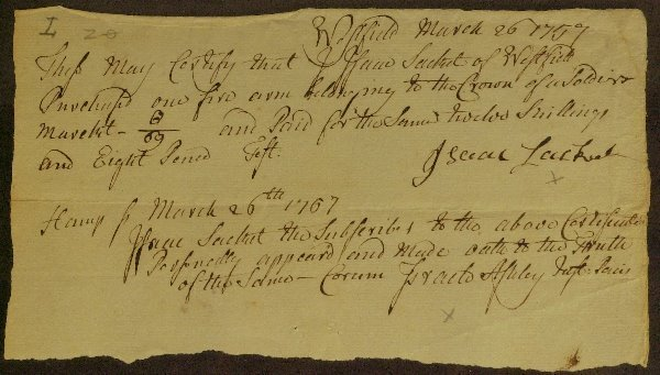 21: Physician ISRAEL ASHLEY - 1777 Document Signed