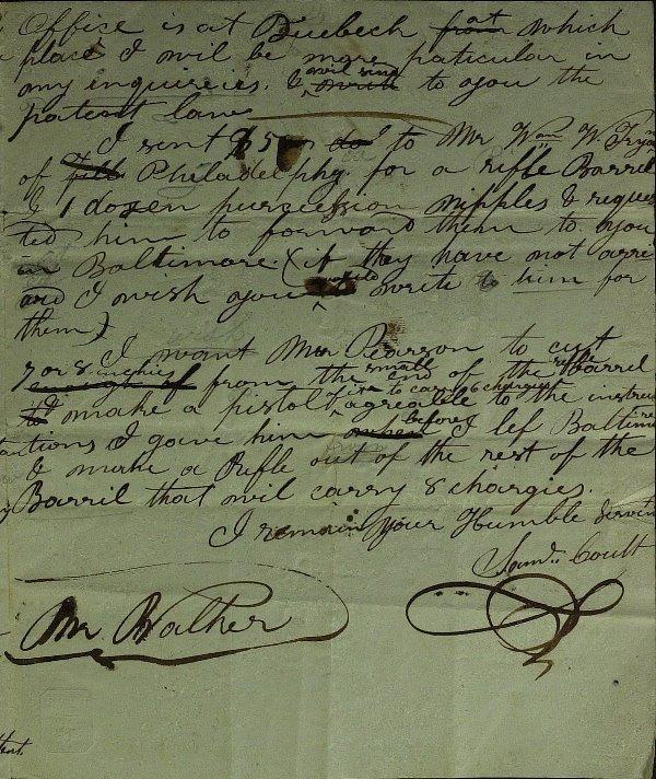 46: Inventor SAMUEL COLT - RARE Autograph Ltr Signed - 3
