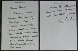 133: Pres GEORGE HW BUSH - Autograph Ltr Signed as Pres